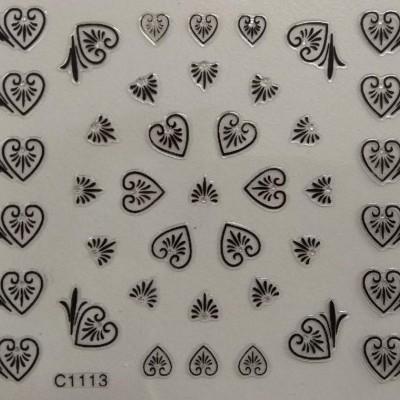 Autocolantes 3D - Corações - C1113