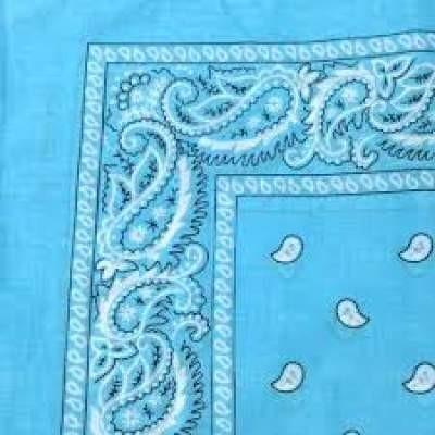 Lenço Bandana com cornucópias - Azul Claro