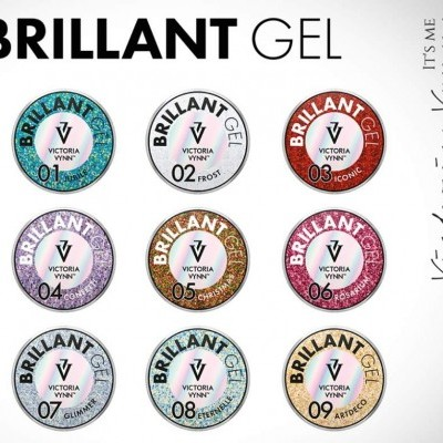 Victoria Vynn - Brilliant Gel - KIt 9 Geis com Glitter