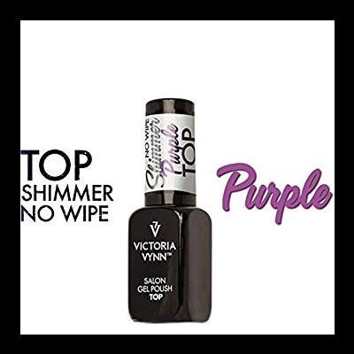 Top Coat Sem Goma - Shimmer Purple - Victoria Vynn - 8 ml