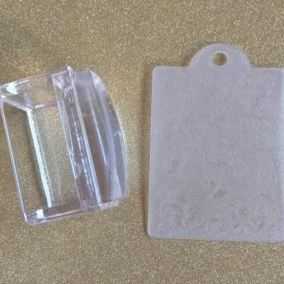 Borracha de Carimbo Transparente Retangular