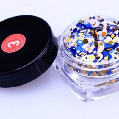 Confetis Bolinhas Coloridas Espelhadas - Nº 03
