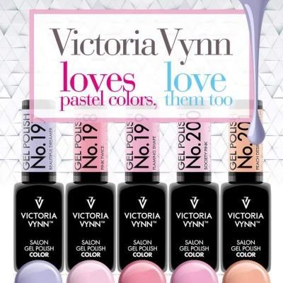 Victoria Vynn Verniz Gel Nº 197, 198, 199, 200 e 201 - Kit 5 Cores Pastel