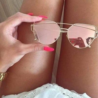 Óculos Cat Eye Rosa Dourado