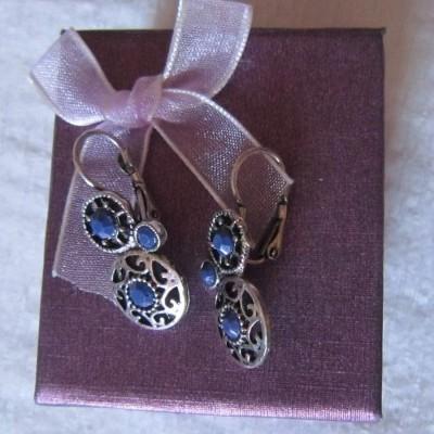 Brincos Azuis Elegantes