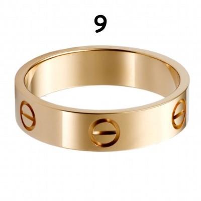 Anel Cartier Love - Dourado Amarelo - Nº 9