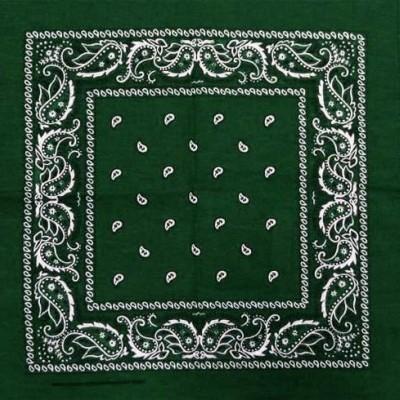 Lenço Bandana com cornucópias - Verde Escuro