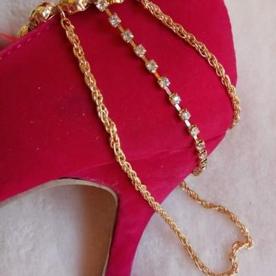 Pulseiras Dourada para sapatos