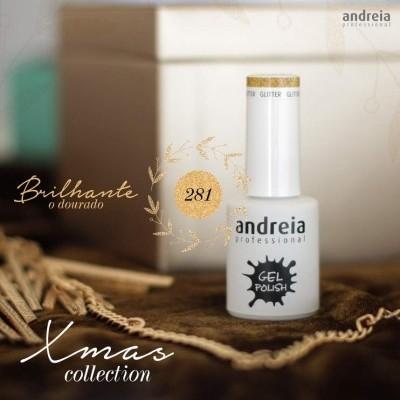 Verniz Gel Andreia 281 - Brilho Dourado