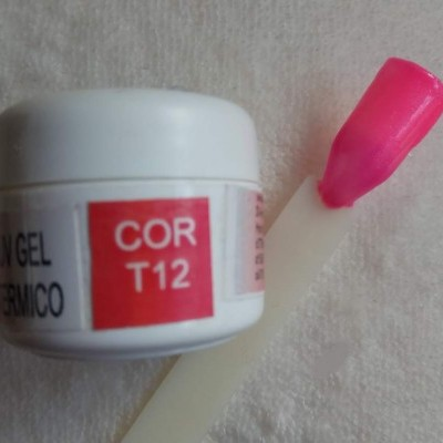 Gel Térmico T12 - Rosa / Rosa com Glitter