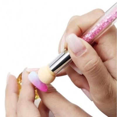 Pincel Esponja Rosa - Para Nail Art