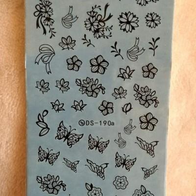 Decalques DS-190a - Borboletas e Flores