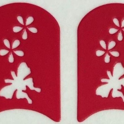 Stencil Borboletas com Flores