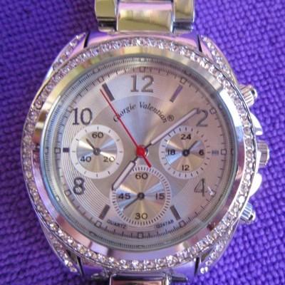 Relógio Mulher Prateado Com Brilhantes