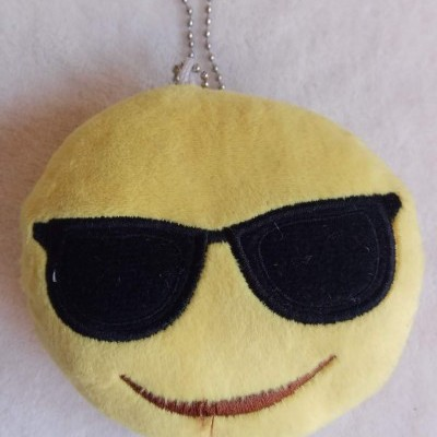 Porta-Chaves Emoji Óculos Escuros