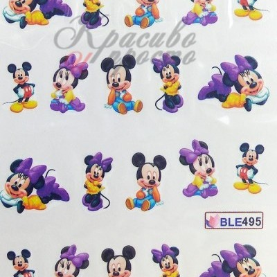 Decalques Mickey e Minnie BLE495