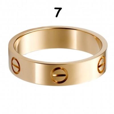 Anel Cartier Love - Dourado Amarelo - Nº 7