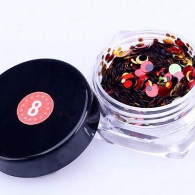 Confetis Bolinhas Coloridas Espelhadas - Nº 08