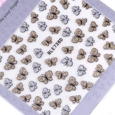 Autocolantes Borboletas com Glitter - BLE736D