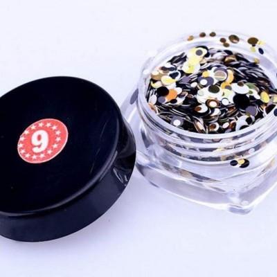Confetis Bolinhas Coloridas Espelhadas - Nº 06