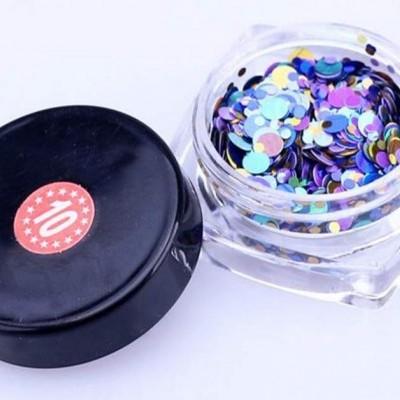 Confetis Bolinhas Coloridas Espelhadas - Nº 010