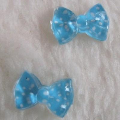 Laços Azuis Claros com Bolinhas
