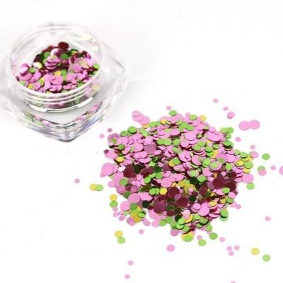 Confetis Bolinhas Coloridas Espelhadas - Nº 05