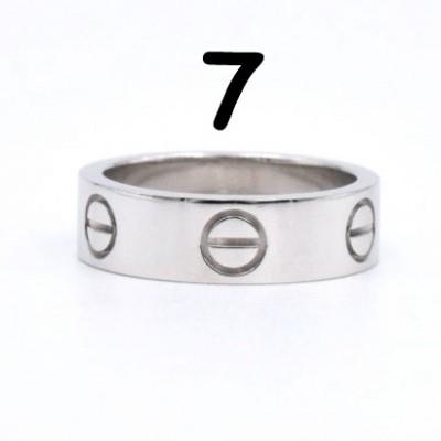 Anel Cartier Love - Prateado - Nº 7
