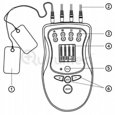 Eletroestimulador Desportivo de 4 canais