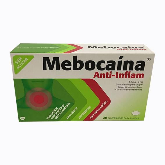 Mebocaina Anti-Inflam 1,2mg + 3m x 30 Comprimidos para chupar