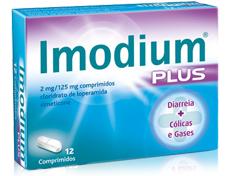 Imodium Plus 2mg + 125mg x 12 Comprimidos