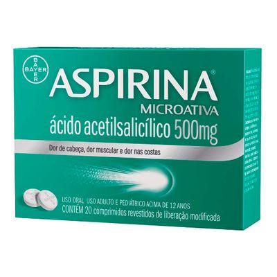 Aspirina MicroActive 500mg x 20 Comprimidos