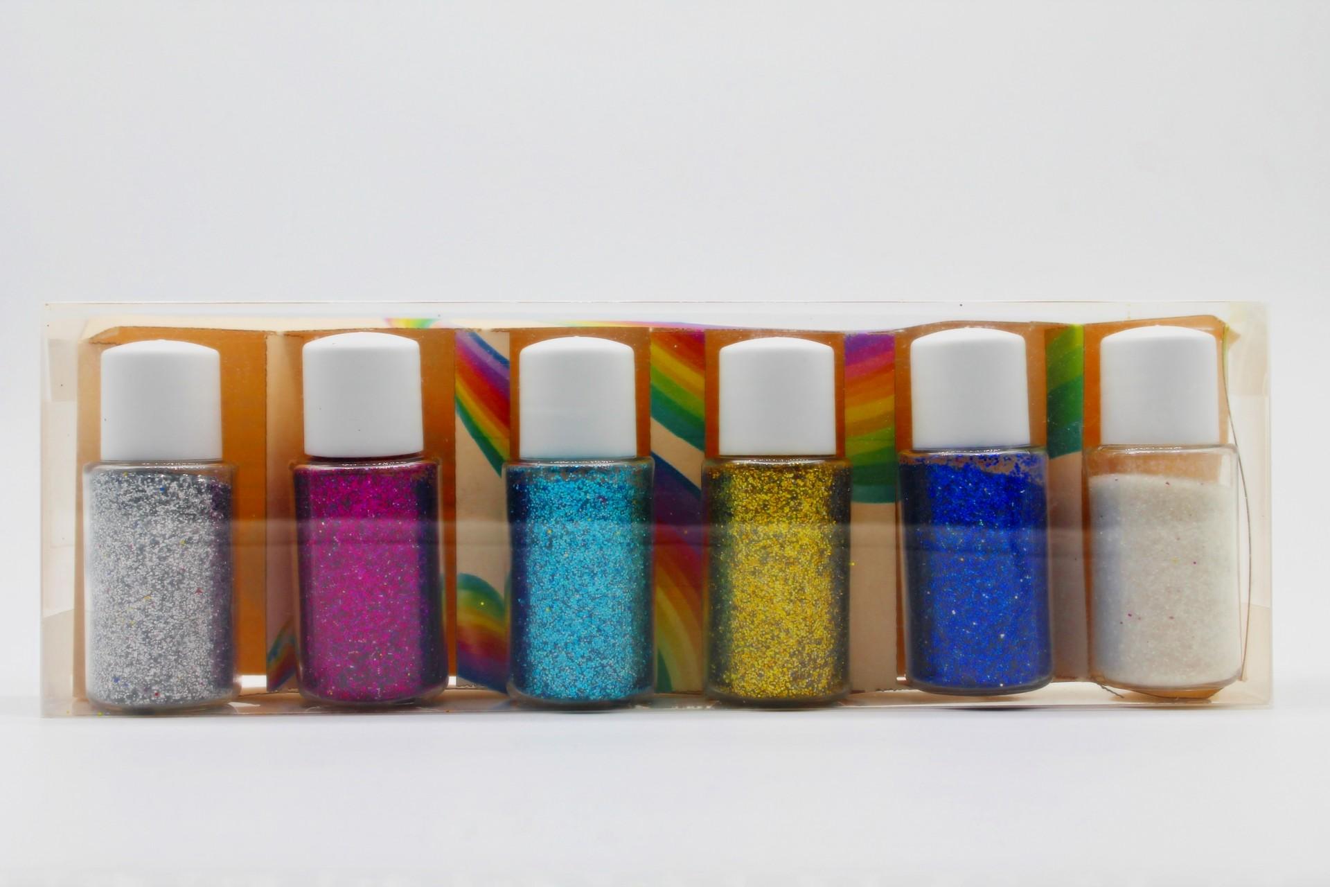 Kit Decoração de Slime - 6 Glitters