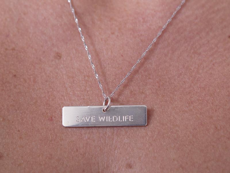 Fio com pedente em prata - Save Wildlife