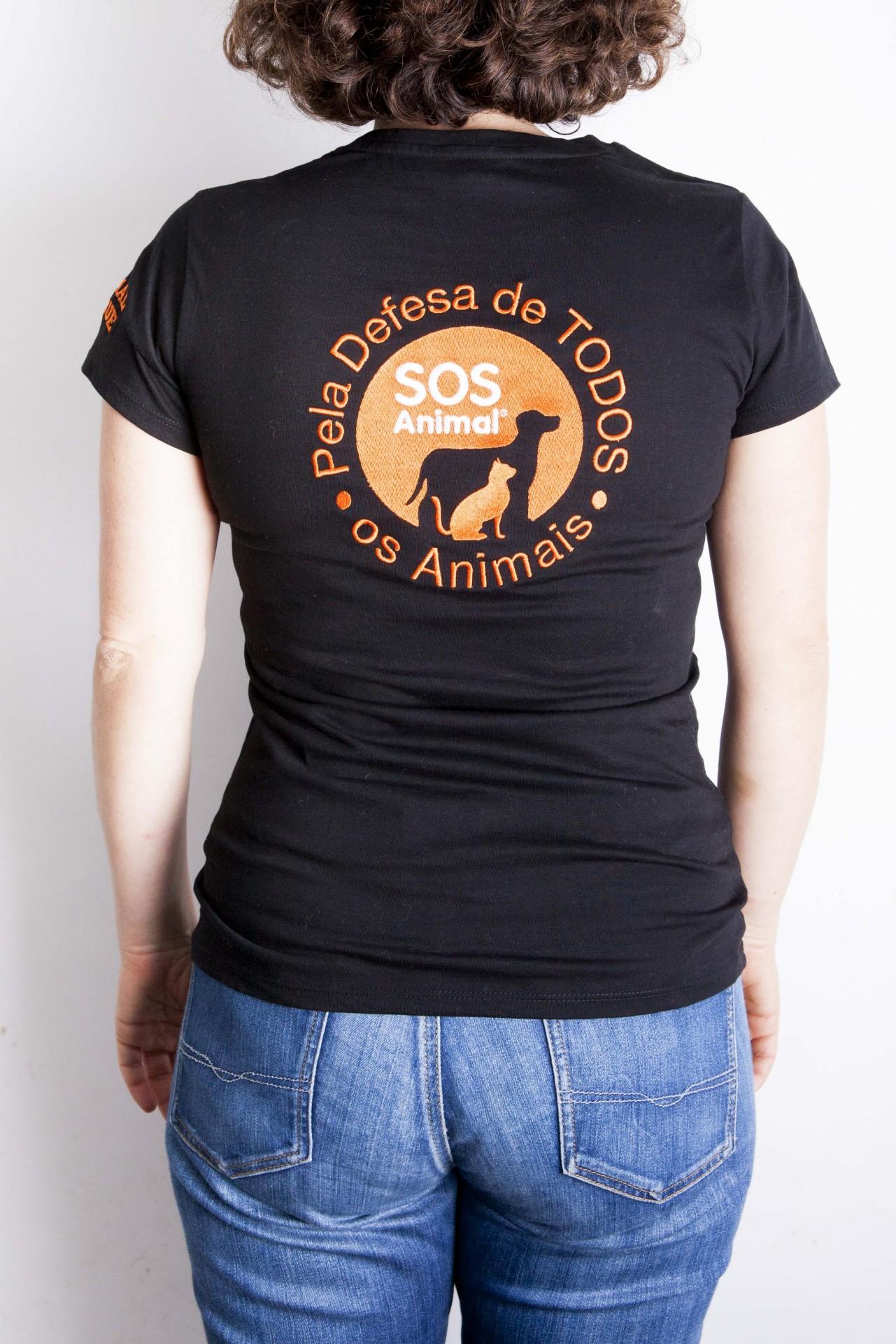 T-Shirt Senhora com logotipo bordado