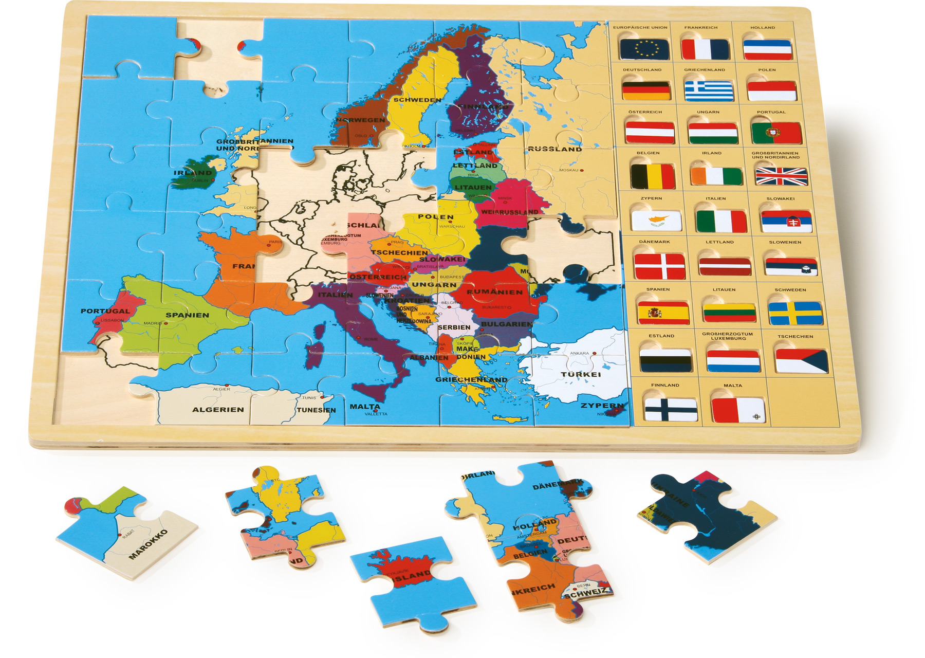 "Framed Puzzle ""Europe ad Flags"""