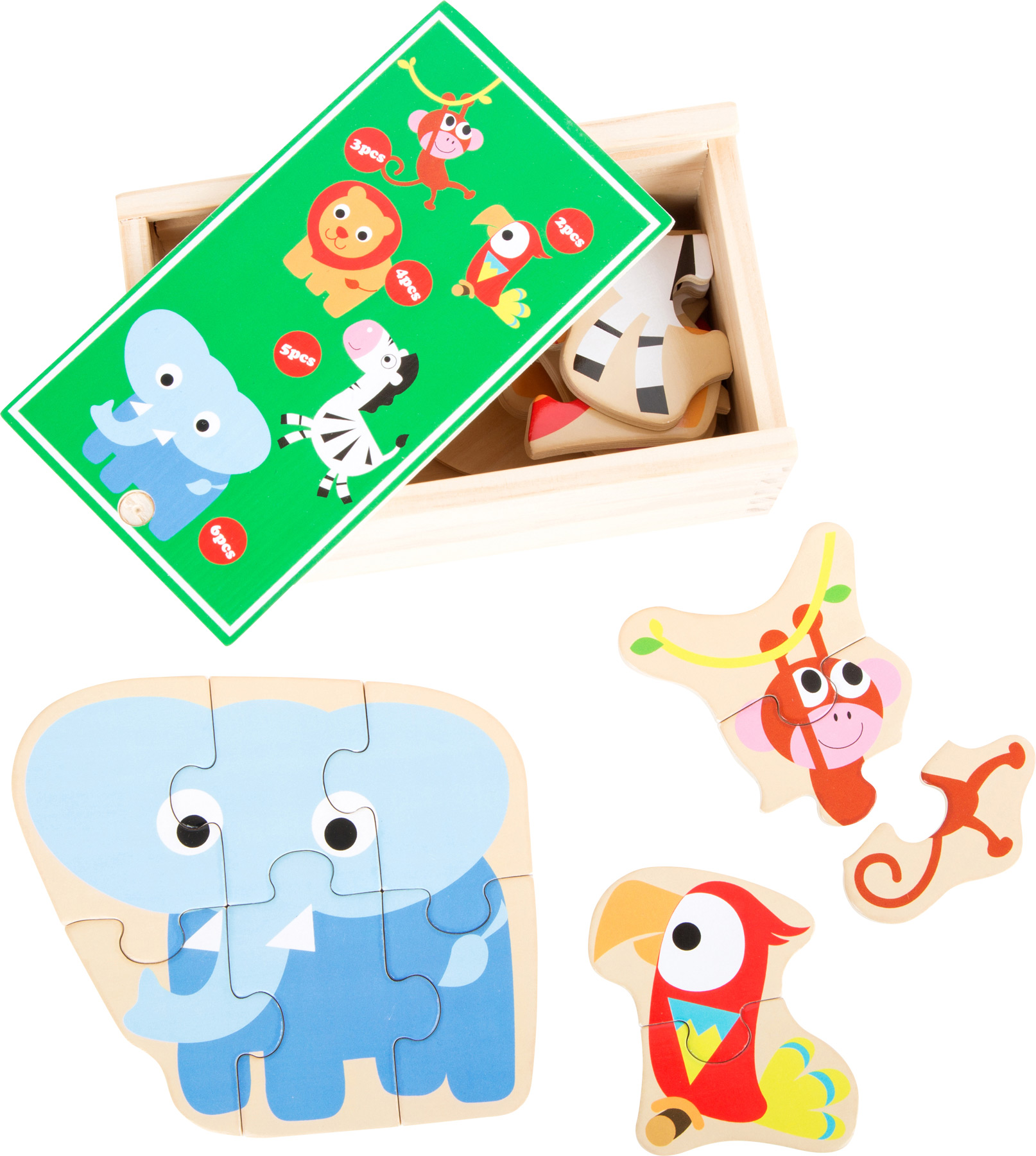Wild Zoo Animals Puzzle Box