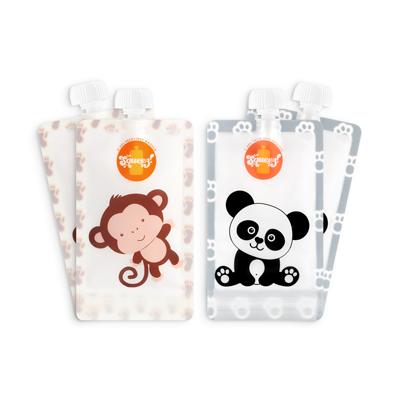 Pack 4 Pacotes reutilizáveis Squeez! Personalizavel 150ml