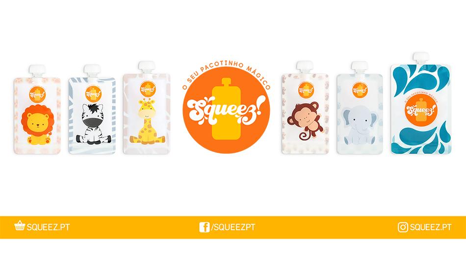 CYBER WEEK - 10% Pack 4 Pacotes reutilizáveis Squeez! 100ml + 150ml