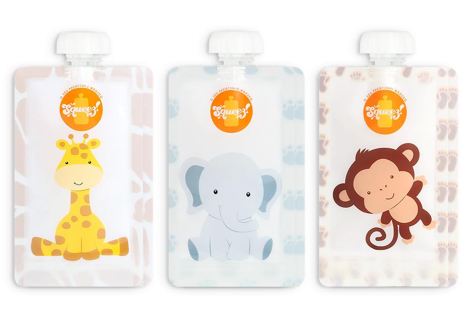 Pack 6 - Macaco + Elefante + Girafa 150ml