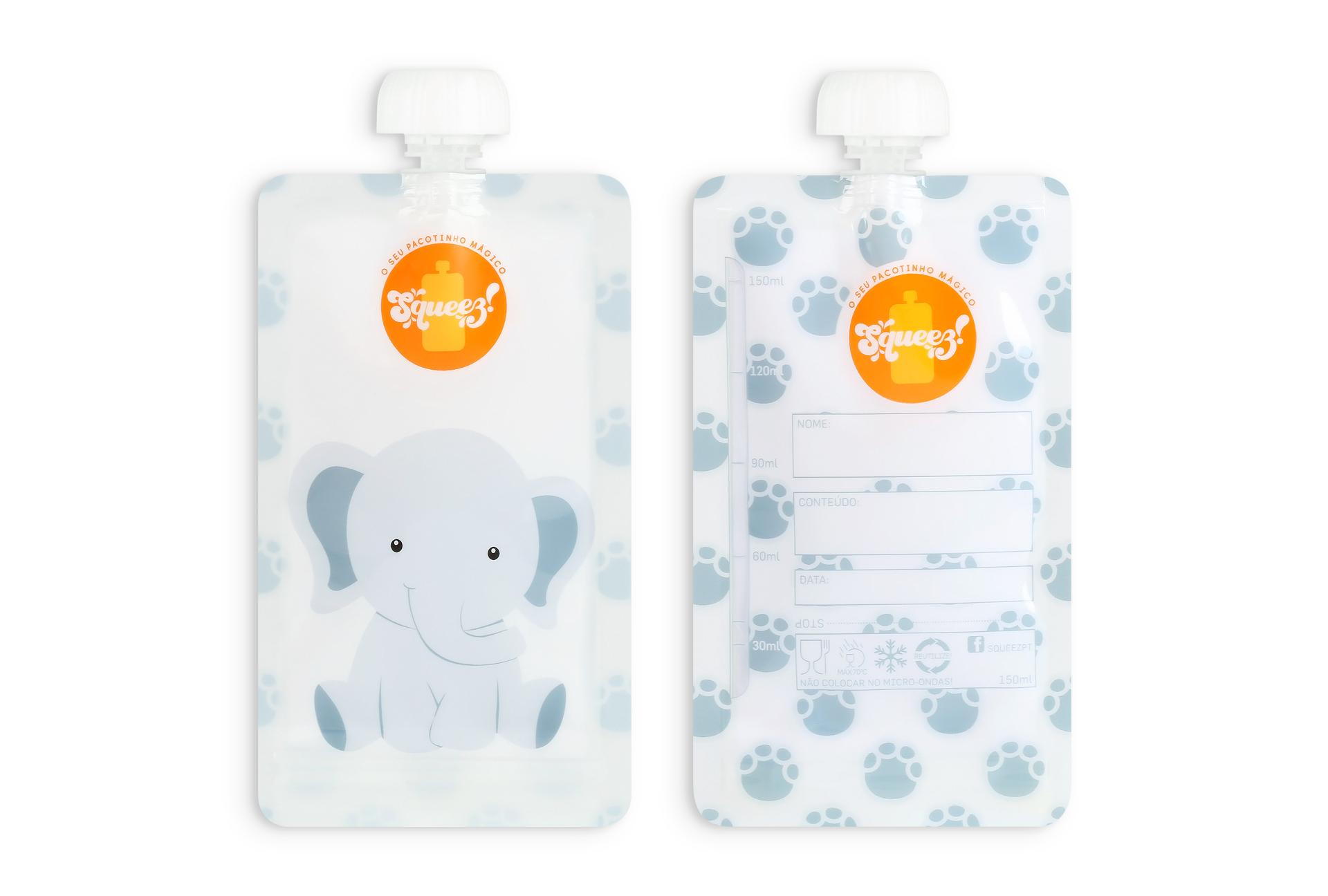 Pack 4 - 2 Girafas + 2  Elefante ou 2 Macacos  150ml