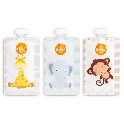 Pack 6 Pacotes reutilizáveis (Girafa, Elefante ou Macaco)  -20% PROMOÇÃO DIA DA CRIANÇA