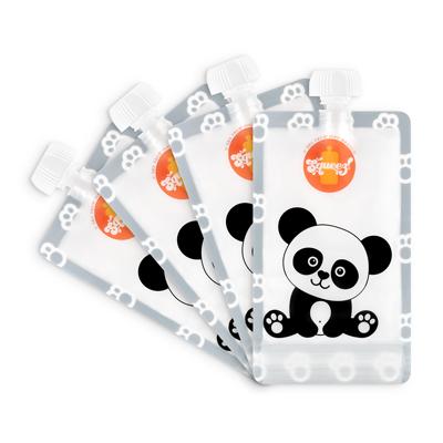 Pack 4 Pacotes reutilizáveis Squeez! 150ml  (Panda, Girafa, Elefante ou Macaco)