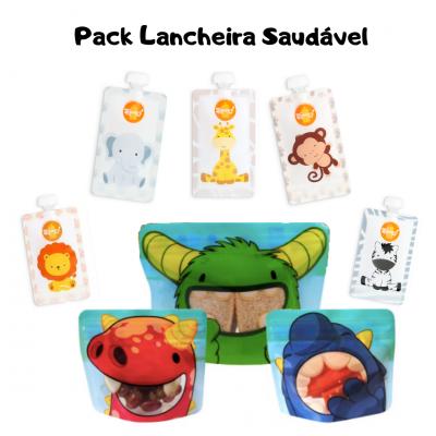 Pack 5 Lancheira Saudável Squeez! -15% PROMOÇÃO DIA DA CRIANÇA