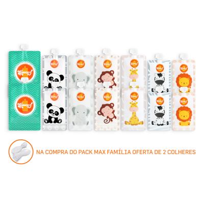 Pack 14 Max Familia Squeez! + 2 Colheres Grátis