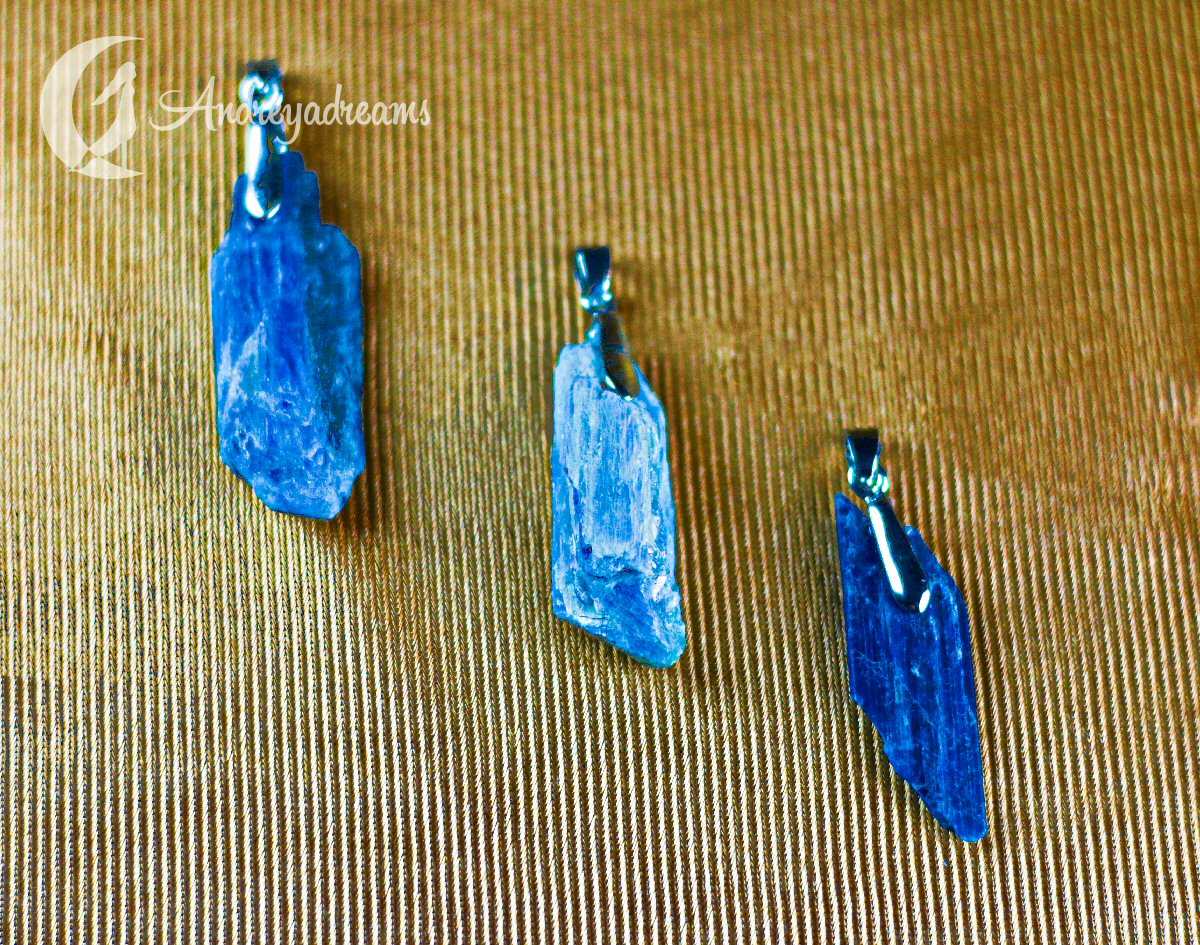Pendente Cianite Azul Natural