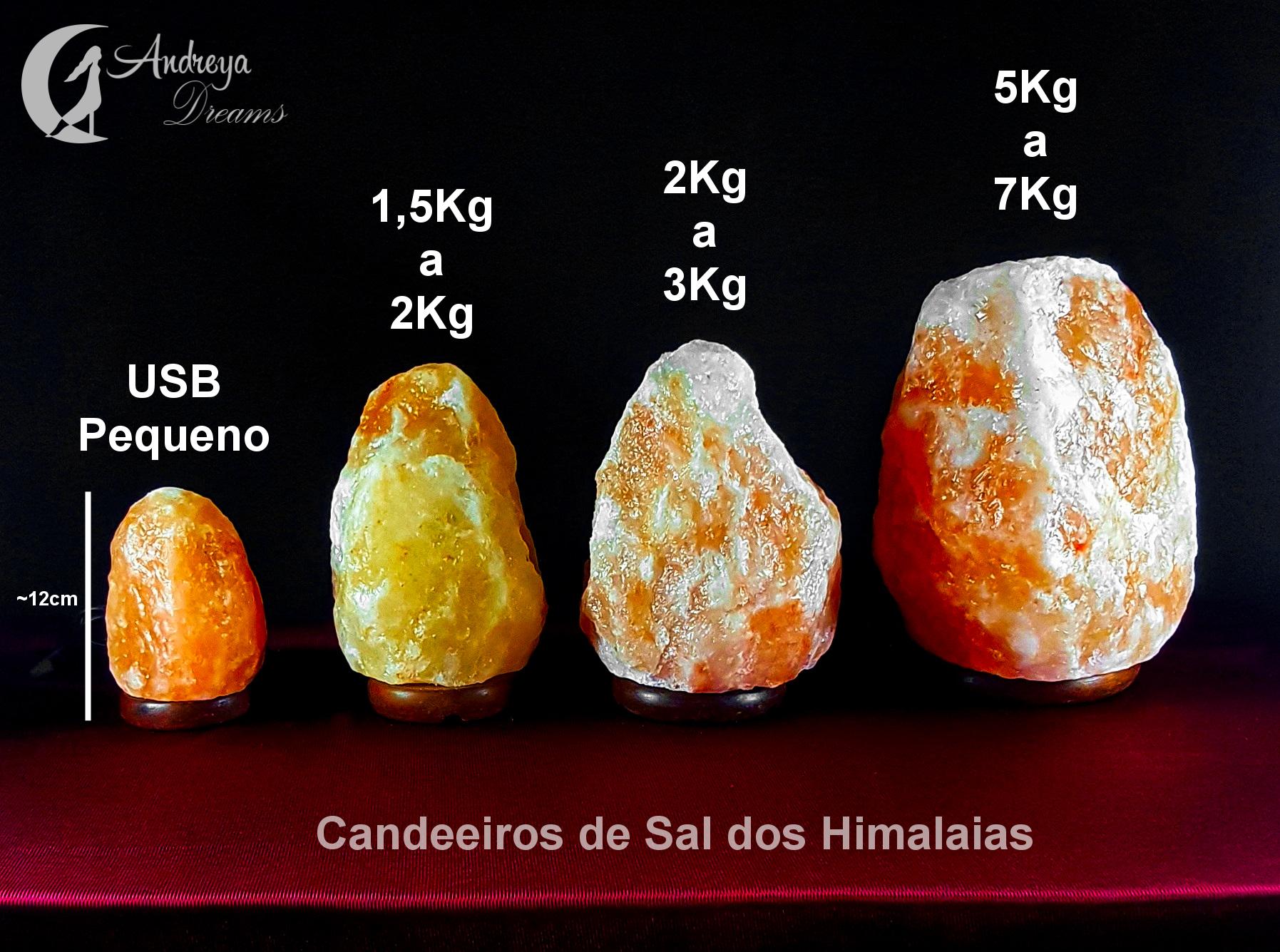 Candeeiro de Sal dos Himalaias USB 10cm
