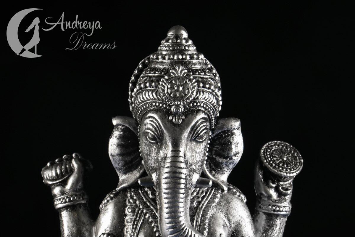 Estátua Ganesha Cinza