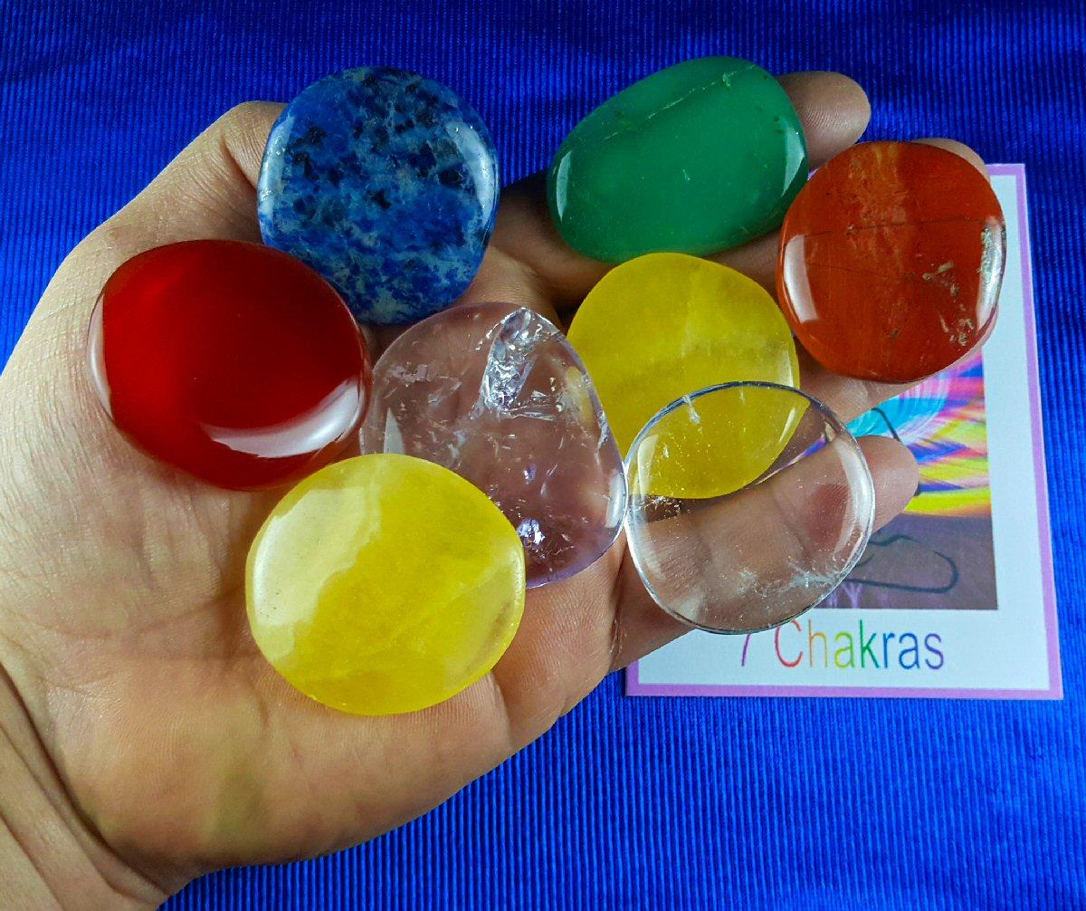 Kit Pedras Grandes dos 7 Chakras