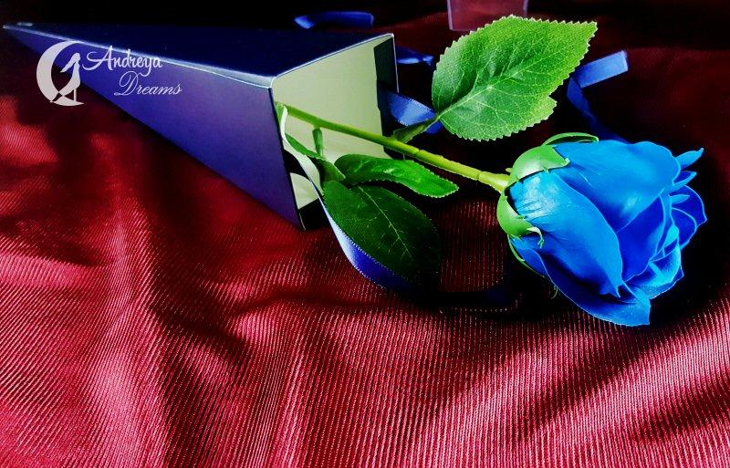 Rosa de Sabão Cor Azul